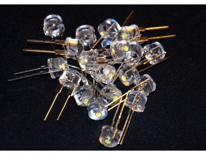 LED Strawhat 5 mm Teplá bílá