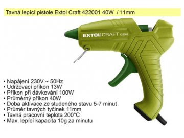 Pistole tavná Extol Craft 40 W 11 mm
