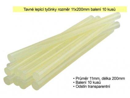 Tavné lepící tyčinky 11 x 200 mm balení 10 kusů