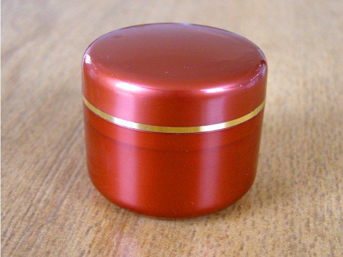 Kosmetická doza 30 ml rezavá s perletí a zlatým proužkem
