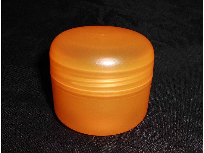 Kosmetická doza 50 ml dvouplášťová oranžová