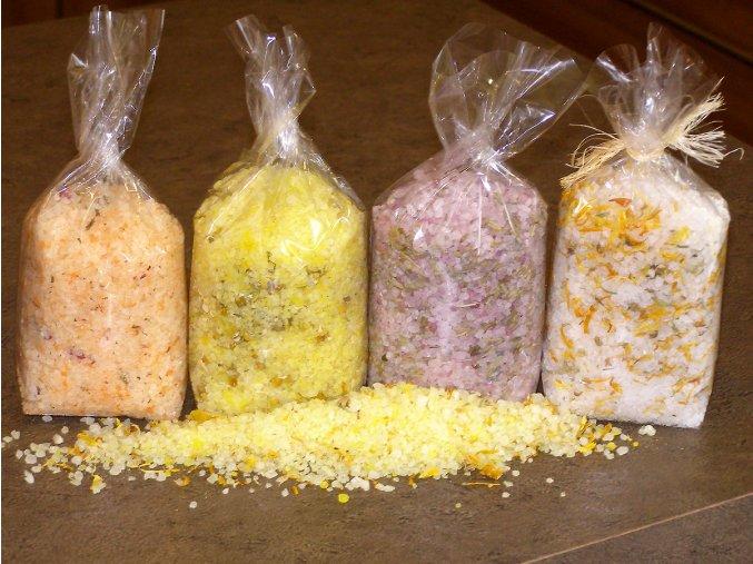 Koupelové bylinné soli