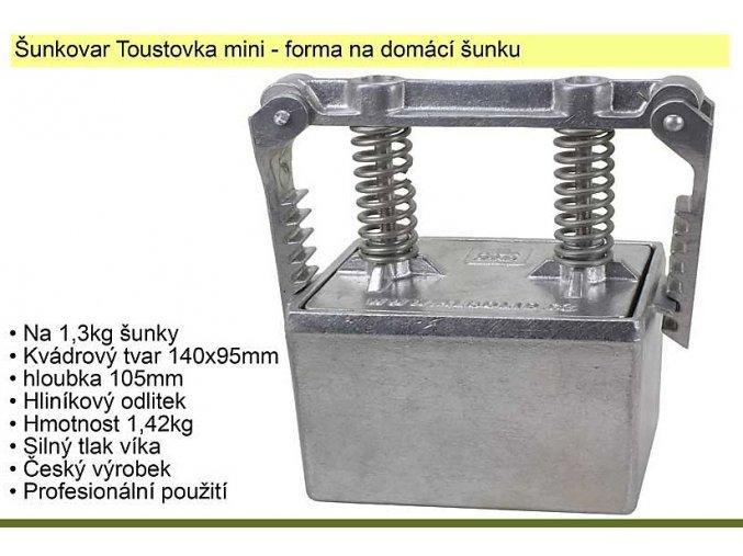 Forma na šunku, šunkovar Toustovka mini