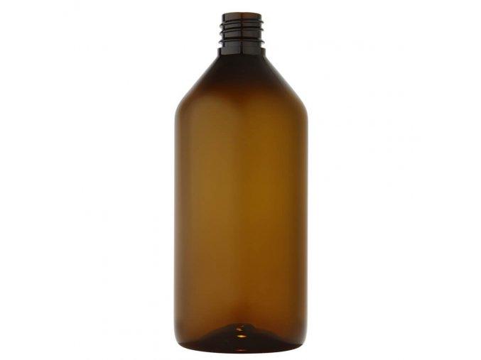 63 plastova lahvicka 215 ml hneda zavit g18x3 main
