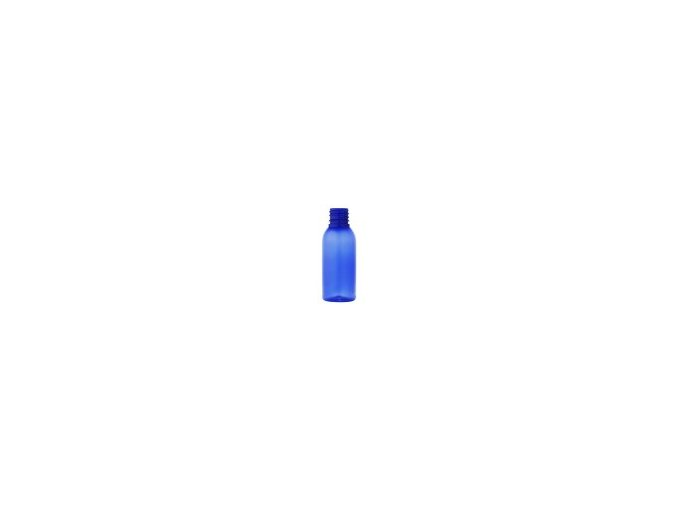 Lahvička PET modrá 100 ml otvor 28 mm bez uzávěru