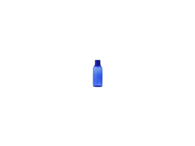 Lahvička PET modrá 100 ml závit 28 mm bez uzávěru
