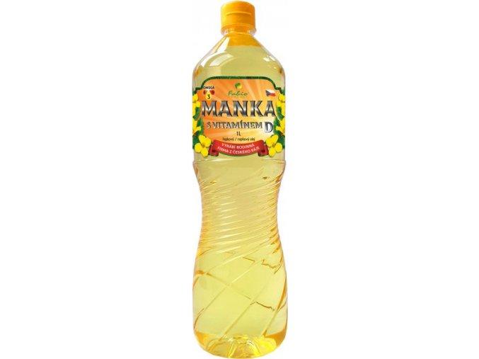 Řepkový olej Manka s vitamínem D 1 L
