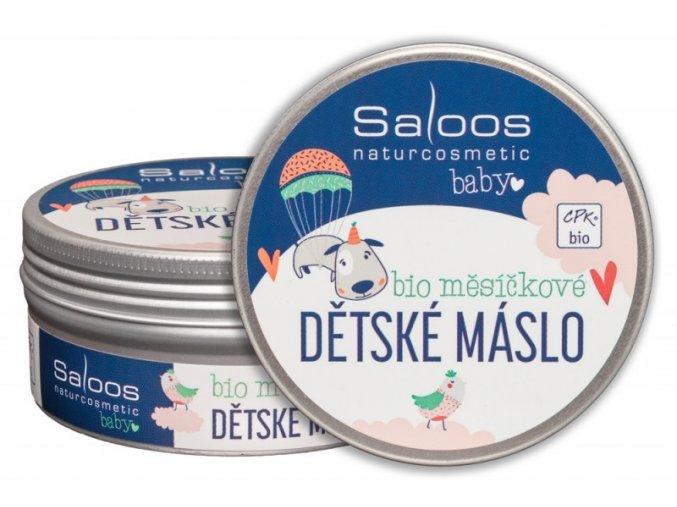 Šlehané bio měsíčkové dětské máslo 150 ml