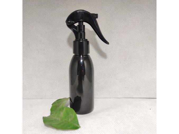 PET láhev RIGOLETTO 100 ml černá s mini rozprašovačem 24 410 4