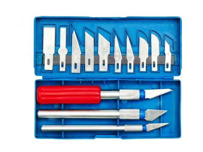 Nože na vyřezávání 16 dílů HOBBY