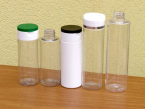 Lahvička PET 250 ml transparent závit 24 mm bez uzávěru