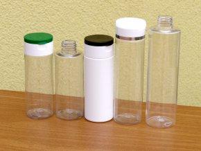 Lahvička PET 150 ml transparent závit 24 mm bez uzávěru