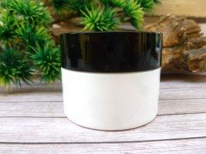 Dóza KOLAPS - lékárenská bílá 50 ml dvouplášťová černé víčko