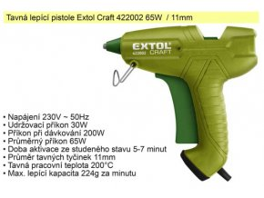 Pistole tavná Extol Craft 65 W 11 mm