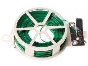 Drátek vázací v plastové kleci s PVC potahem 0,6mm délka 30m