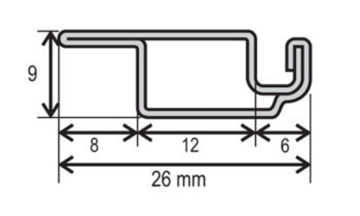Profil OV 19x8mm