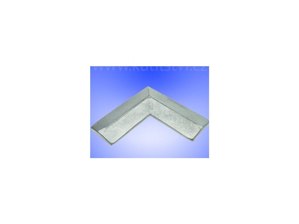 Vnitřní hliníkový roh pro profil OE 24x24 mm