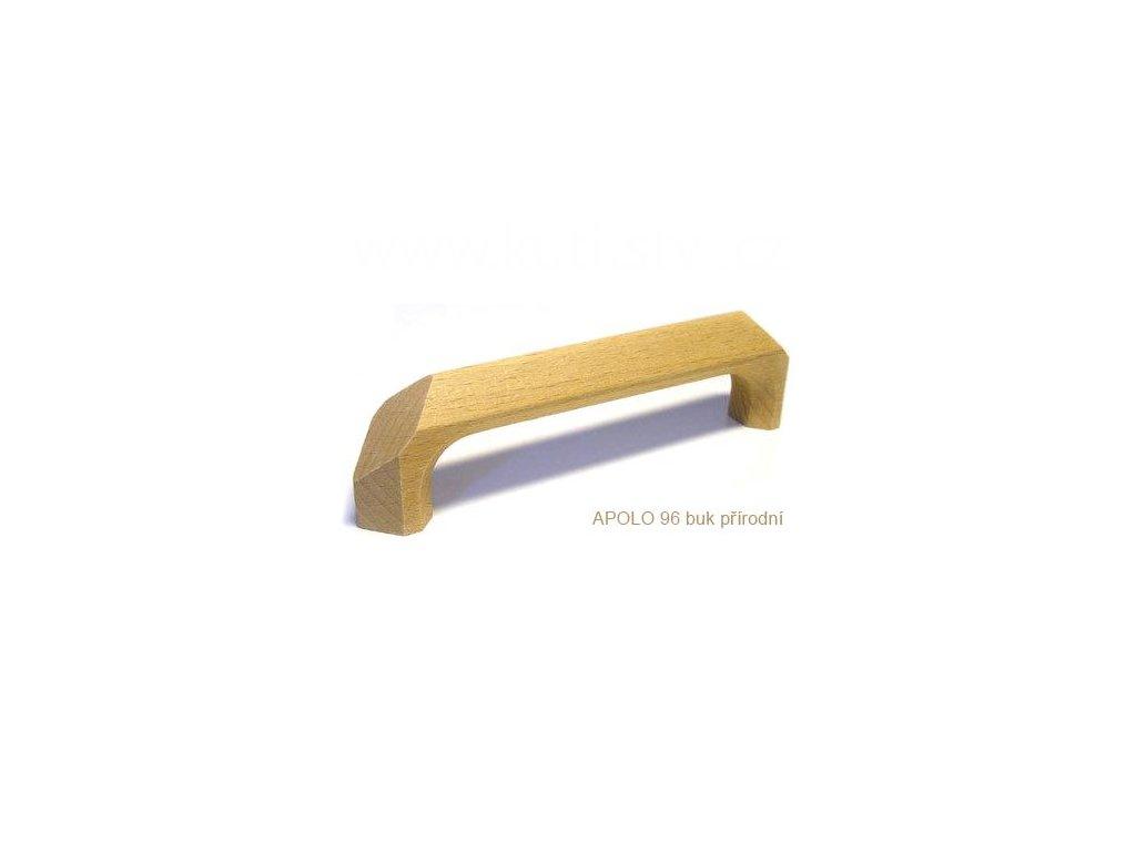 dřevěná úchytka APOLO 96 (Varianta APOLO 64 buk lakovaný - doprodej)