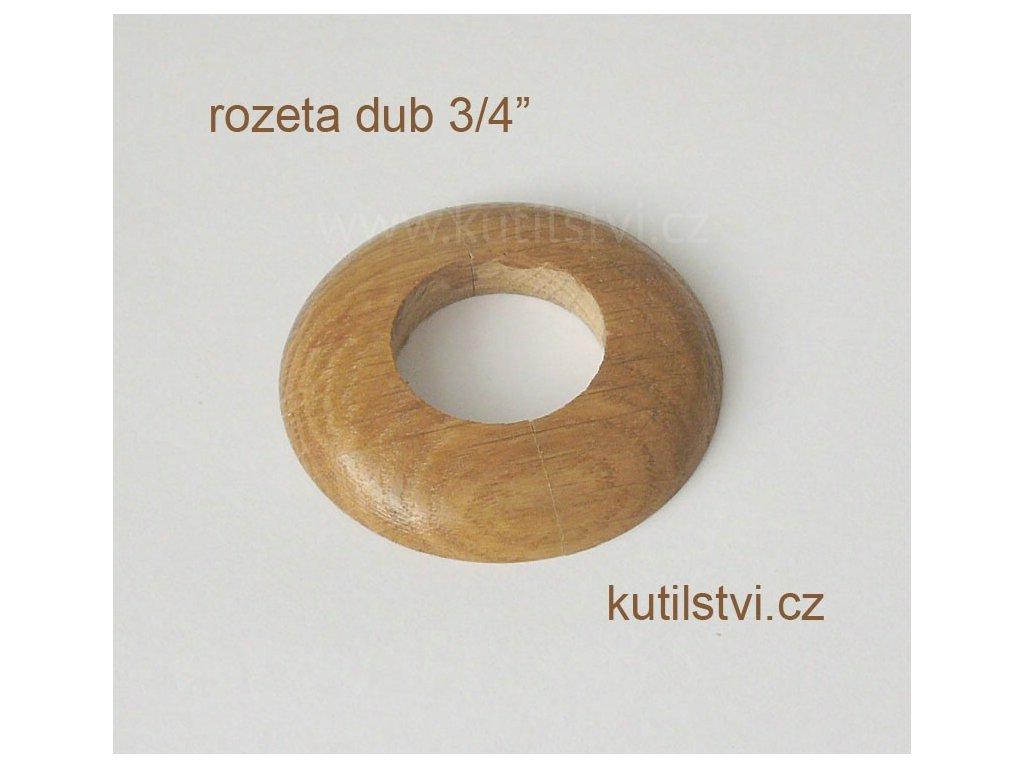 Dřevěná rozeta podlahová - materiál dub