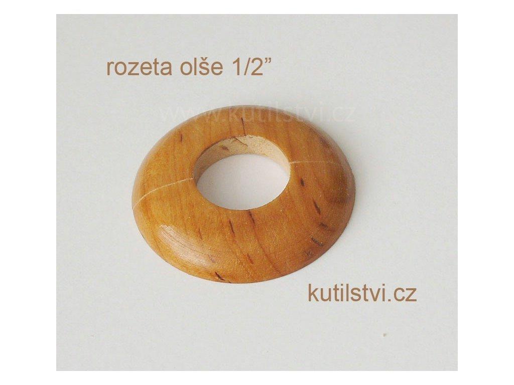 Dřevěná rozeta podlahová - materiál olše