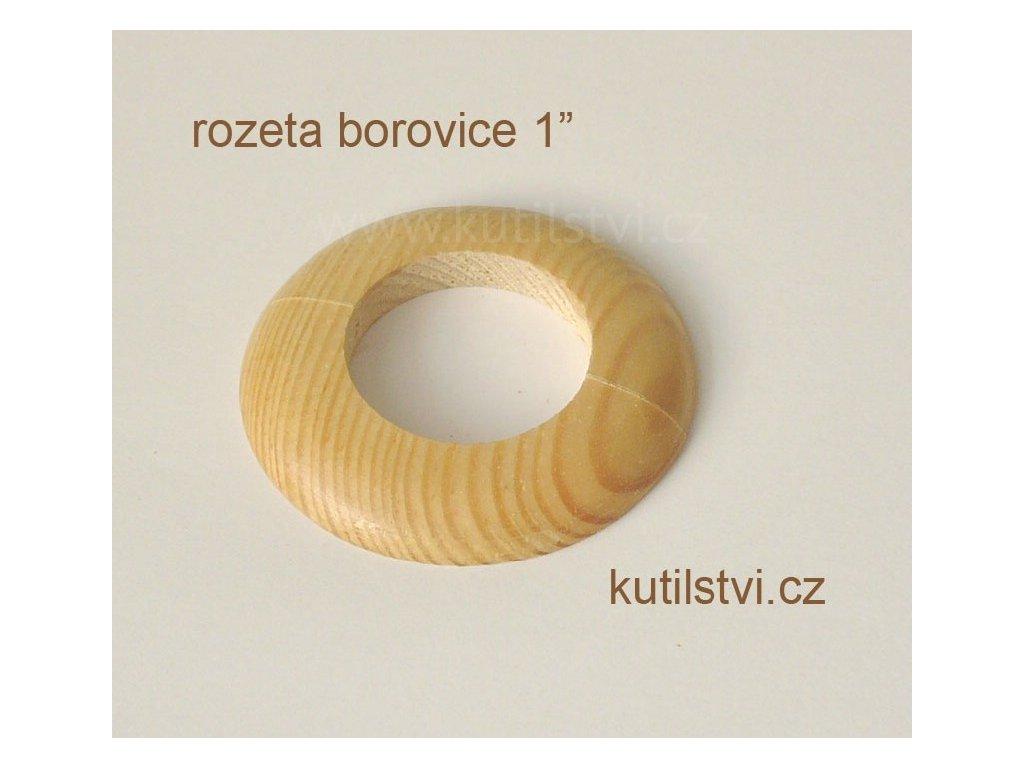 Dřevěná rozeta podlahová - materiál borovice