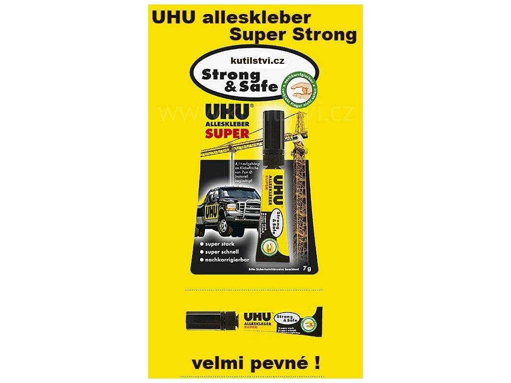 UHU Alleskleber Super Strong Safe - lepidlo pro rychlé opravy, 7g