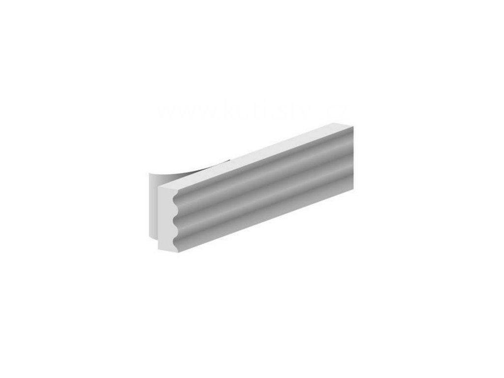 Samolepící těsnění oken a dveří, K profil, malá spára 2-3mm, materiál EPDM