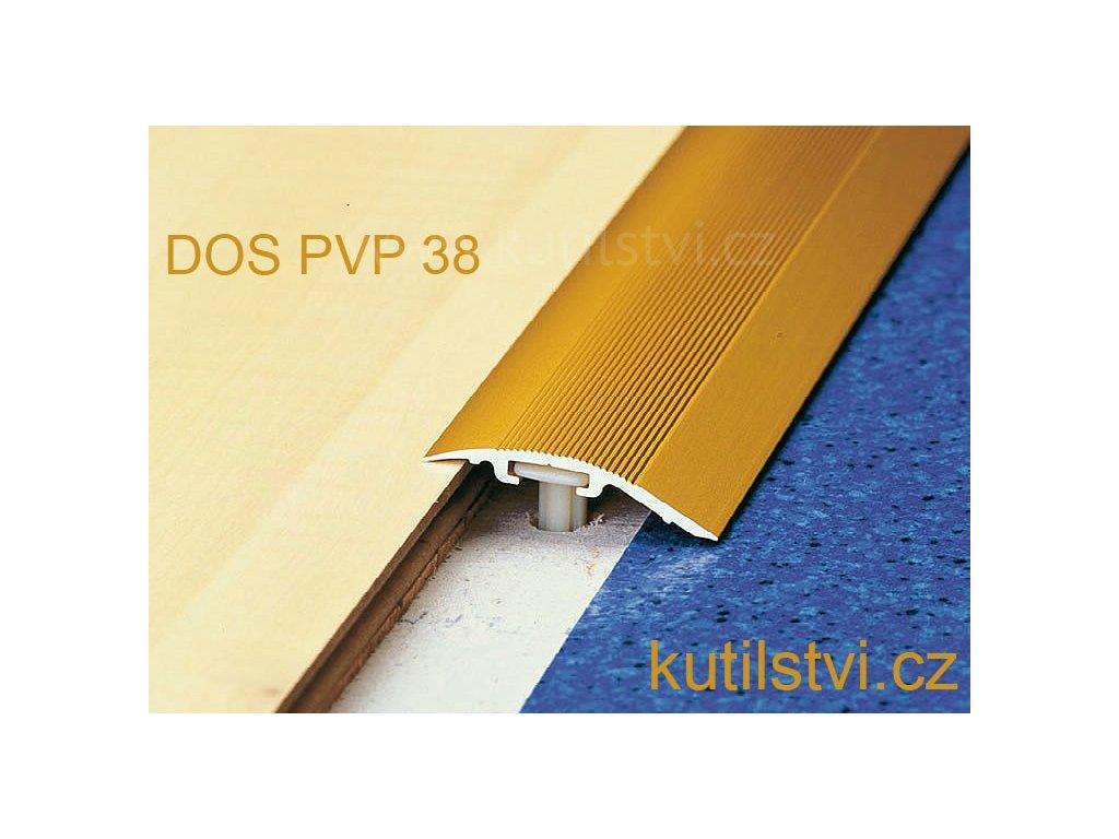 Přechodová vyrovnávací lišta, šířka 38 mm, podlaha 4-17,5mm, vyrovná 0-17,5mm