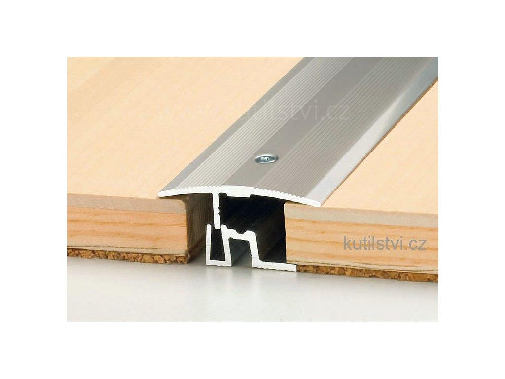 Přechodový podlahový profil PS 400, šíře 43mm, pro podlahu 7-17,5mm, výškový rozdíl do 8mm, doprodej