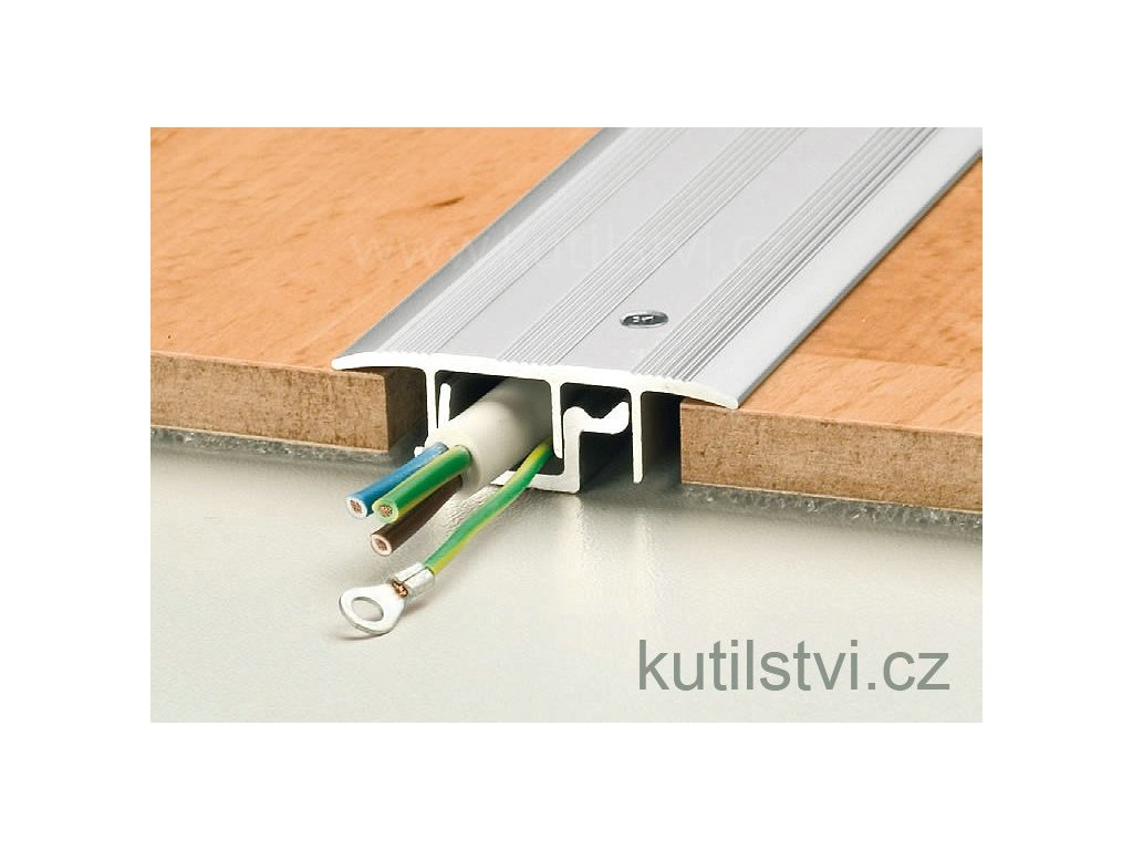 podlahový kabelový kanál Prinz typ 1 v délkách 90 a 270cm, doprodej!