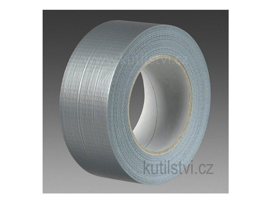 Textilní laminovaná páska stříbrná, 50mm x 50m