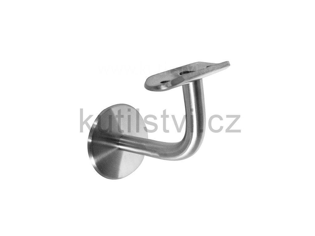 Nerezový držák madla - ukotven pomocí závitové tyče M8