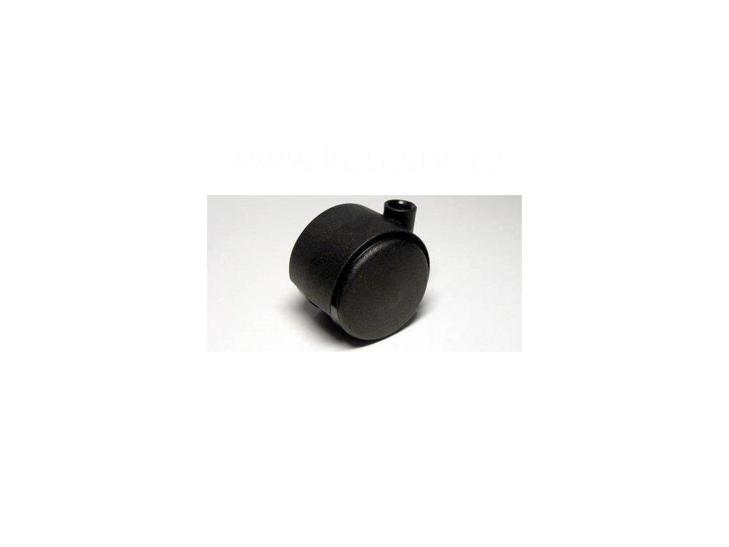 Nábytkové kolečko typu A, celoplastové, průměr 40, černé