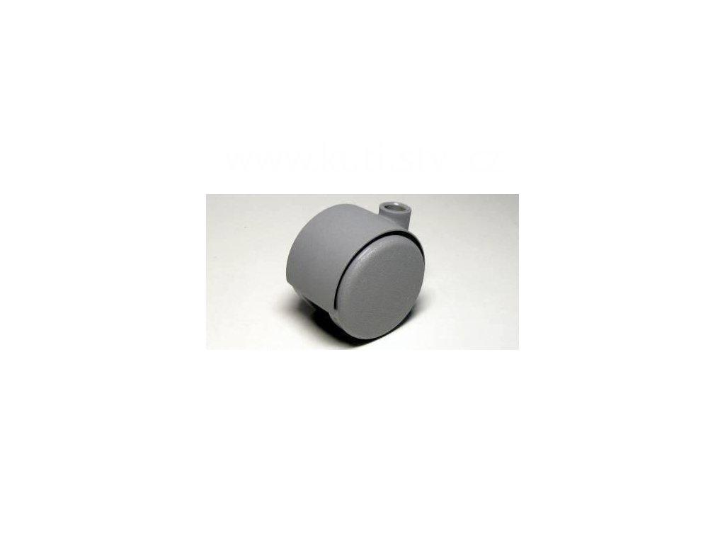 Nábytkové kolečko typu A, celoplastové, průměr 40, šedé