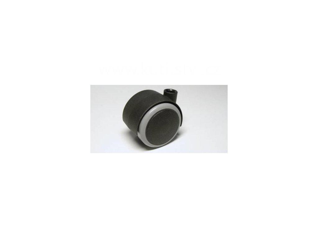 Nábytkové kolečko typu A, celoplastové, průměr 40, černé s gumou