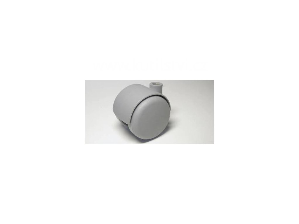 Nábytkové kolečko, čep typu A, celoplastové, průměr 50, šedé