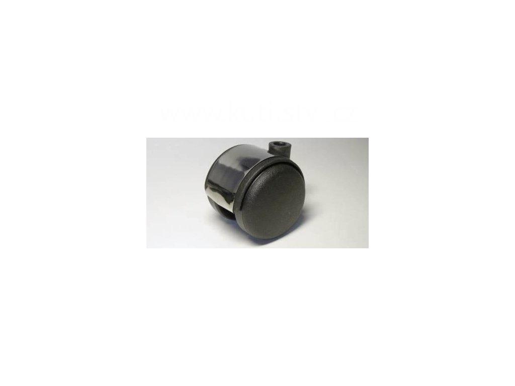Nábytkové kolečko, čep typu A, celoplastové, průměr 50, stříbrné