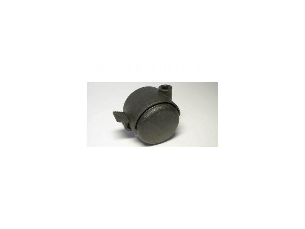 Nábytkové kolečko, čep typu BA, celoplastové, průměr 50, černé, brzda