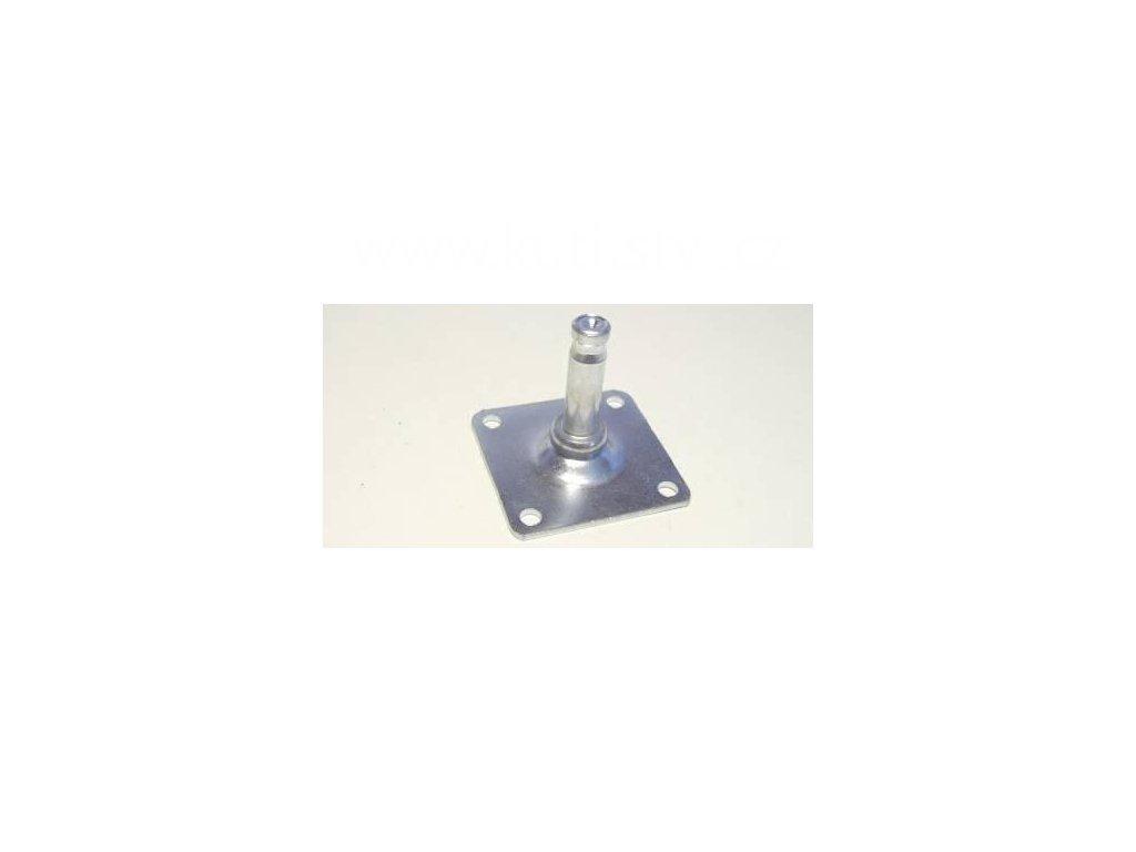 Kovová destička pro kolečka a kluzáky, typ A, 42x42 mm