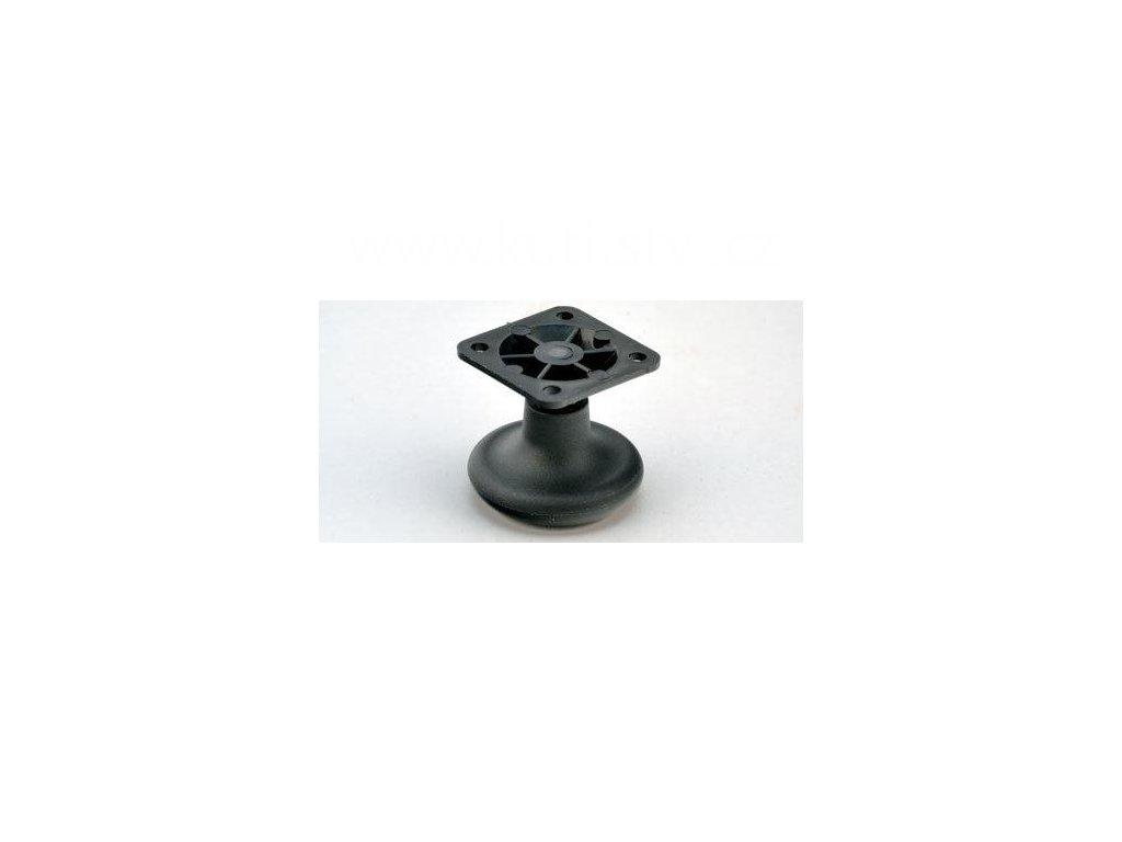 Nábytkový kluzák typu KA + plastová destička 45x45mm, průměr 50 mm, černý