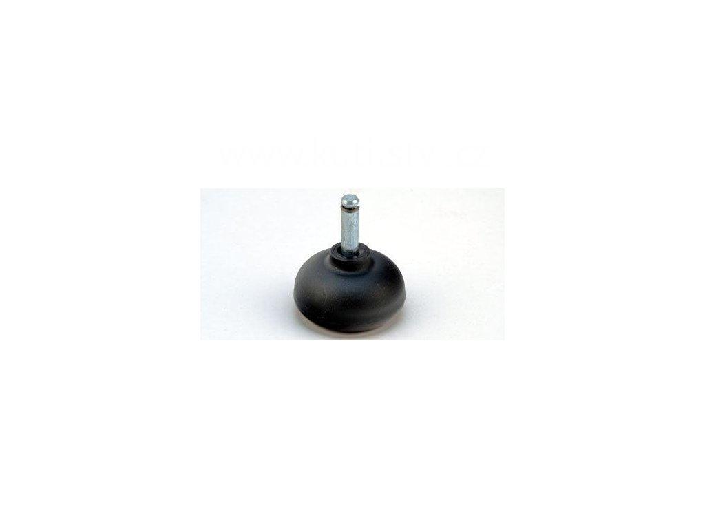 Nábytkový kluzák typu KB + čep 8x28mm, průměr 50 mm, černý