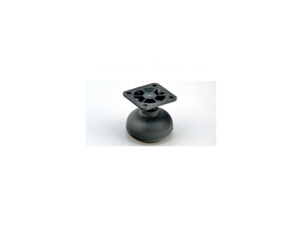 Nábytkový kluzák typu KB + plastová destička 45x45mm, průměr 50 mm, černý