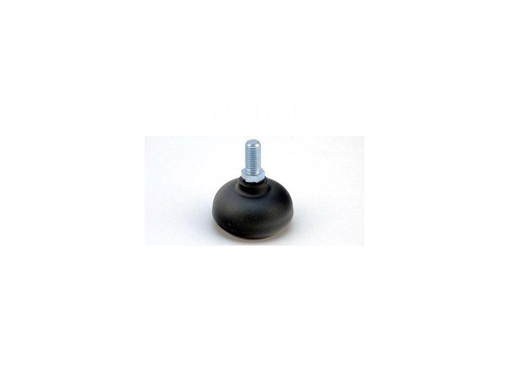 Nábytkový kluzák typu KB + závit M10x20mm, průměr 50 mm, černý