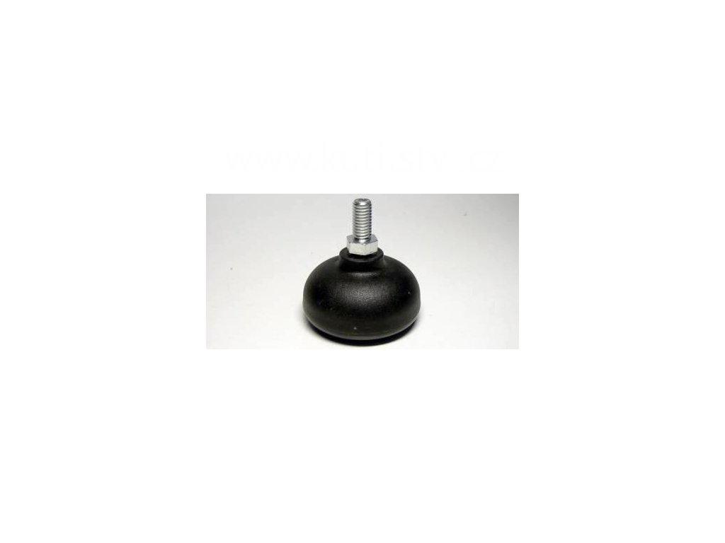 Nábytkový kluzák typu KB + závit M8x16mm, průměr 50 mm, černý