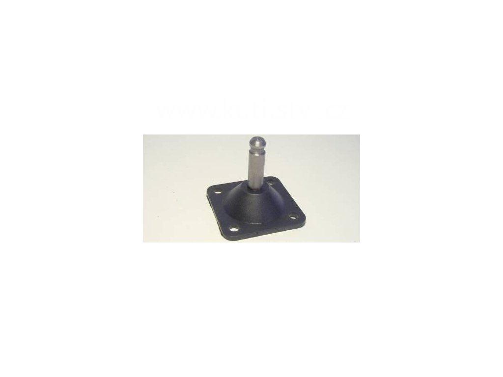 Plastová destička pro kolečka a kluzáky, typ A, 45x45 mm