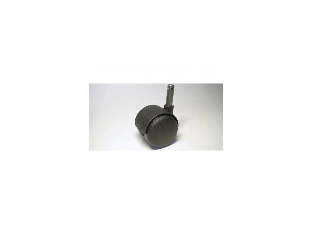 Židlové kolečko typu A + čep 10x31mm, celoplastové, průměr 50, černé