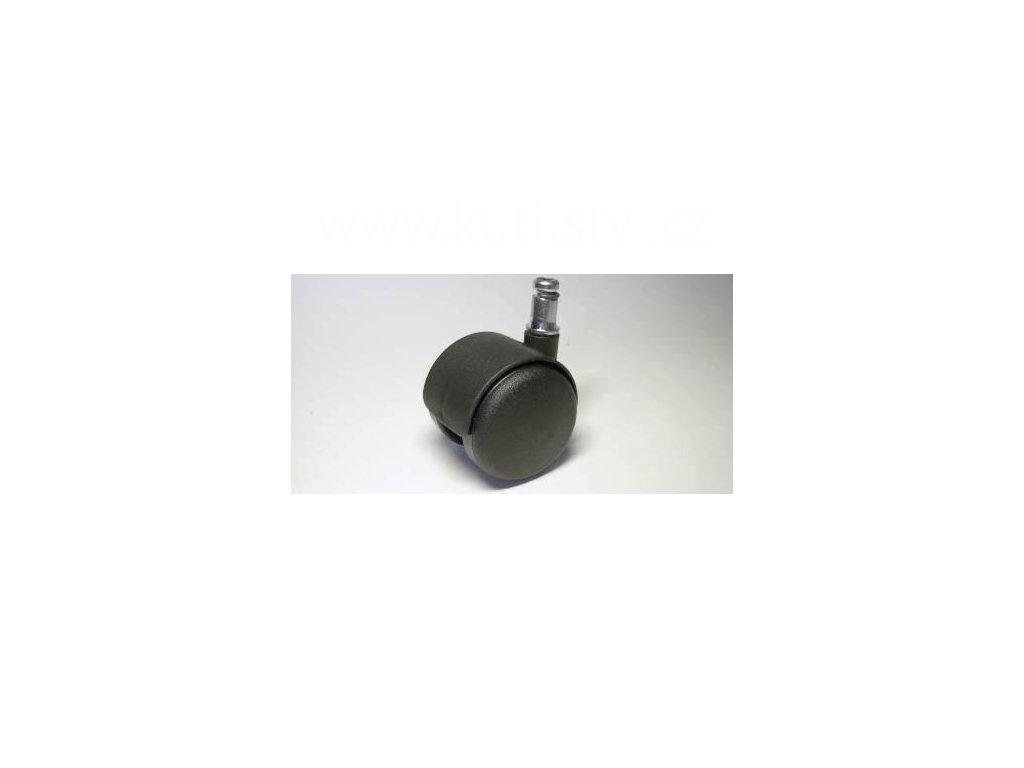 Židlové kolečko typu A + čep 11x20mm, celoplastové, průměr 50, černé