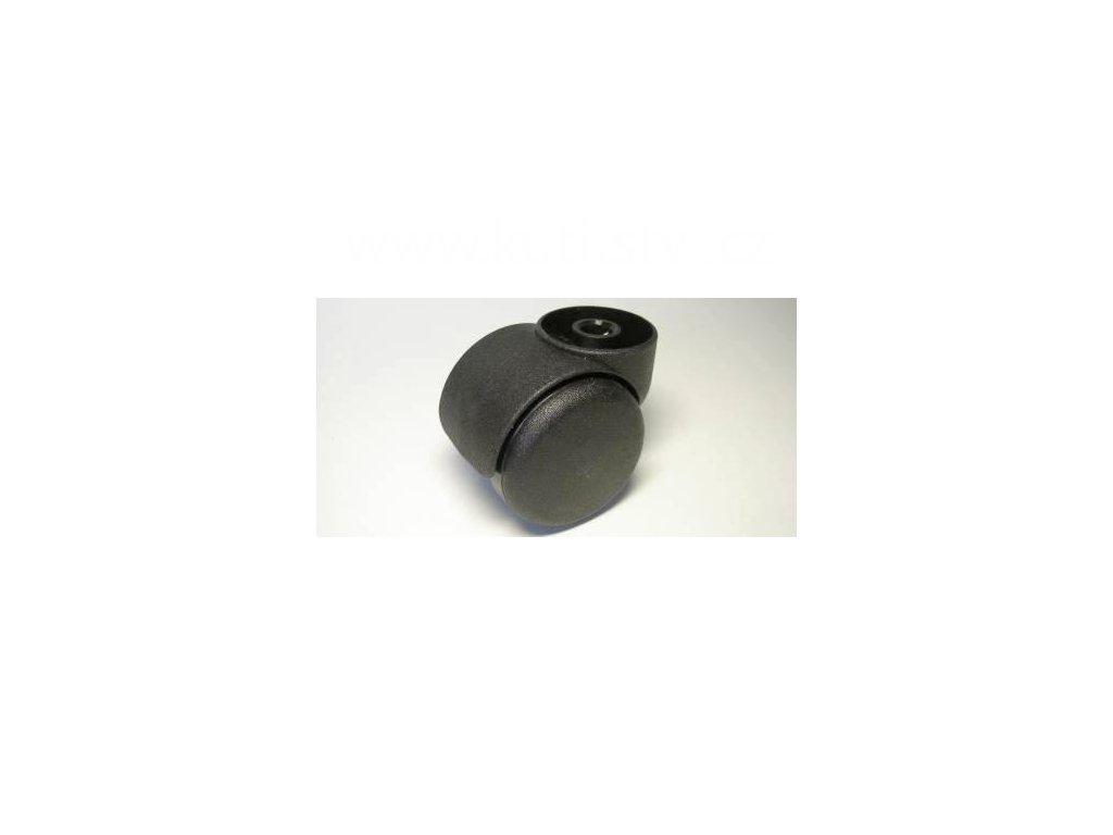 Židlové kolečko typu C, bez uchycení, celoplastové, průměr 50, černé
