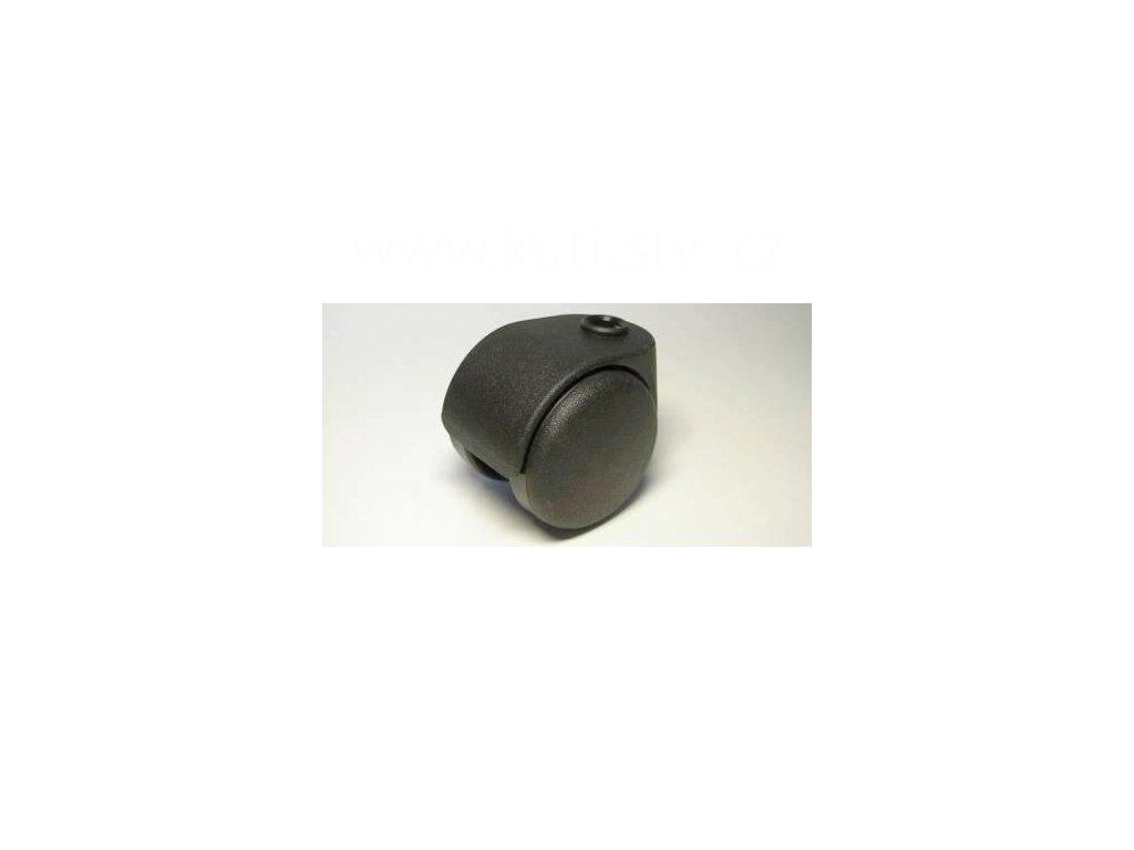 Židlové kolečko typu D, celoplastové, průměr 50, černé
