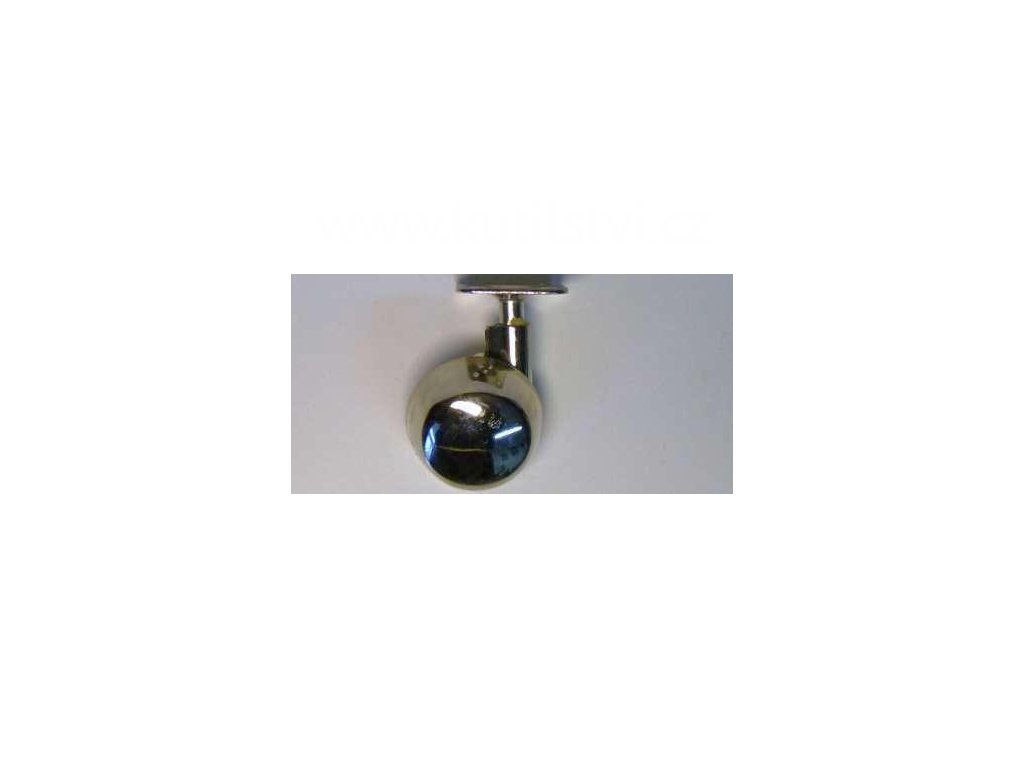 Celokovové kolečko pravé, průměr 50, s kovovou destičkou